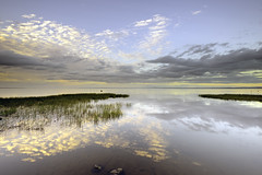 Butterfly Sky (Stephen_Lavery) Tags: loughneagh countyarmagh northernireland loch lake water still calm reflection evening horizon butterfly cloud