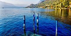 Lago d'Iseo (giannipiras555) Tags: landscape panorama natura lago iseo isola autunno molo blu montagne riflessi