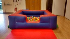 8x8 Ball pool/pit complete with balls, suitable up to 6 year olds. £50 per hire or £30 when hired with a full price castle.