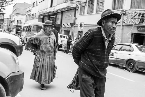 Callejera en Bolivia