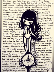 Time réflexions (christalecollas) Tags: heartbroken love quotes draw girl alone sad time