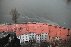 Der Czech heizt zum ausklingenden Winter mit Abwasser (all martn) Tags: decin czech republic city stadt elbe labe