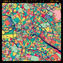 Berlin Colorful Vector Map on Black (Hebstreits) Tags: amazing art beautiful berlin capital color colorful colors create creation cute design distance germany ground highways infographic infographics landmark map marker museum outline pins plan planner pointer print printable roads route satellite street streets symbol tours travel vector water