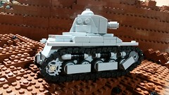 French R35 (Yitzy Kasowitz) Tags: tank ww2 brickmania lego legotank francs france