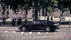 Aston Martin Rapide (M-Gruppe.net) Tags: summer black car canon photography 50mm am shot martin frankfurt side main 14 automotive panning schwarz aston rapide carspotting mgruppenet