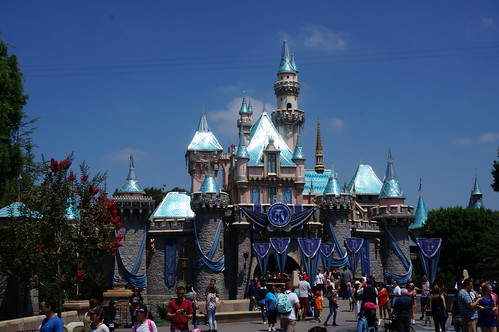 "Sleeping Beauty Castle - Disneyland's 60th Anniversary • <a style=""font-size:0.8em;"" href=""http://www.flickr.com/photos/28558260@N04/20501714620/"" target=""_blank"">View on Flickr</a>"