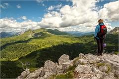 Riflessioni (flavia.facchini) Tags: nuvole montagna vie cima panorami ferrate