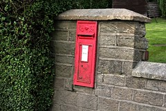 Very Rural Postbox.  (steamdriver12) Tags: red england rural iron mail very royal lancashire september cast postbox 2015 lathom