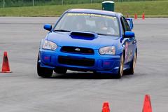 Screamin' Subie gripping the pavement 3 (R.A. Killmer) Tags: race speed drive smoke slide tires subaru autocross sti racer drift horsepower skill scca