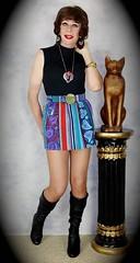 DSC05854 (msdaphnethos) Tags: tv boots cd tgirl transgender transvestite hosiery gogo brunette crossdresser crossdress nylons minidress daphnethomas