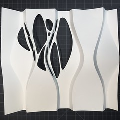(mike.tanis) Tags: art architecture paper paperart design origami surface surfacedesign kirigami curve papercraft curvedfolding