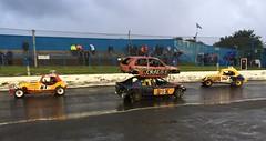Siamese bangers and Legend F2s (barronr) Tags: scotland fife racing f2 stockcars cowdenbeath racewall siamesebangers