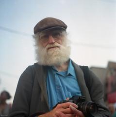 Fellow Film Shooter (BunnySafari) Tags: toronto august kensingtonmarket yashicamat124g 2015 pedestriansunday filmphotographer kodak400portra filmshooters