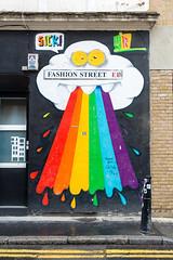 Street Art is Child's Play (Mister Rad) Tags: streetart london rainbow stick spitalfields fashionstreet towerhamlets nikond600 nikon50mmf14g