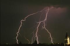 Gewitter Lightning Strike Berlin Lankwitz (rieblinga) Tags: berlin blitz gewitter einschlag