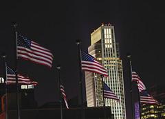 Patriotic Omaha (Tiara Rae Photography) Tags: skyline night nebraska downtown omaha