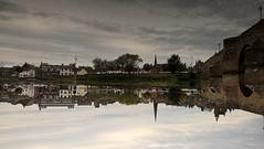 Rotated (Tobymeg) Tags: reflection water mobile river scotland town phone rotated dumfries 640 nith lumia lte