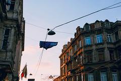 istiklal street (sukorkmaz) Tags: sunset sky canon turkey istanbul cables taksim 70d