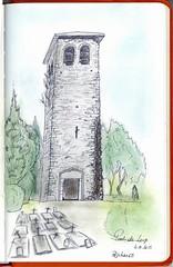Tour romane de Pont-De-Loup (BE) (Claudio Nichele (@jihan65)) Tags: tower sketch torre tour belgium belgique drawing dessin belgio croquis pontdeloup