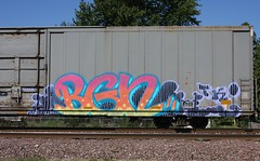 Bgn (quiet-silence) Tags: railroad art train graffiti ic flat railcar boxcar graff freight tko fr8 autoparts illinoiscentral bgn