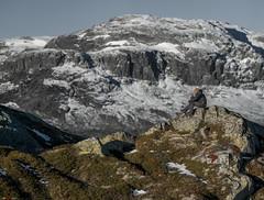 Enjoying the First Rays of the Sun... (bent inge) Tags: autumn winter norway october hiking telemark haukeli 2015 vinje haukelifjell norwegianmountains bentingeask