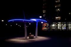 (Harm Weitering) Tags: urban nacht kunst paddestoel emmen bankje verlichting holdert