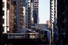 Into station (aerojad) Tags: chicago train cta trains theloop traintrack thel chicagoist openhousechicago openhousechicago2015