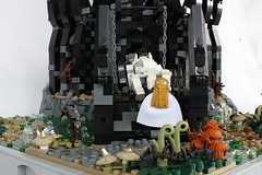 The Fortress of Tol-in-Gaurhoth (jsnyder002) Tags: tower castle landscape design model lego gates interior working lord rings creation swamp drawbridge fortress functional tolkien sauron moc beren huan silmarillion luthien