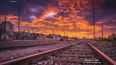 Sunset at the Railway Station in Passau  -   #schauer