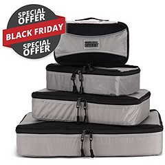 Pro Packing Cubes - 4 Piece Lightweight Travel Packing Cubes Set - Organizers and Compression Pouches System for Carry-on Luggage Accesories, Suitcase and Backpacking (wupplestravel) Tags: travel packing system luggage compression backpacking cubes piece suitcase pouches carryon accesories organizers lightweight
