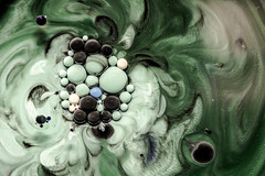 Better Photography Through Chemistry - 22 (MorboKat) Tags: white abstract black color colour detail macro green texture colors ball colorful colours purple bright olive violet mint bubbles chemistry round bubble planet swirl colourful trippy liquid emerald chemical reaction liquidart instense