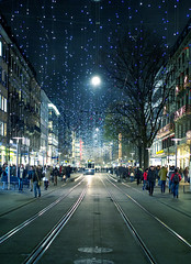 zurich christmas lights 2015 (uchita.linda) Tags: christmas city night weihnachten lights switzerland navidad luces suiza swiss zurich bahnhofstrasse zurigo lucesnavideas