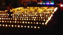 Yellow Floaters (Movemental Studios) Tags: lighting yellow grid candles glow floaters floater