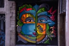 BCN walls (pineider) Tags: barcelona graffiti europa europe boobs euro titts topless catalunya murales graffitis