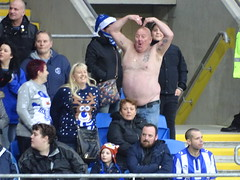 Sheffield Wednesday Away Fan Does the Ayatollah (joncandy) Tags: city wednesday paul photo football championship image stadium soccer sheffield cardiff picture tango gregory bluebirds swfc ccfc
