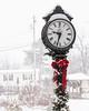 Morning Snow on the Green (brianloganphoto) Tags: morning winter conditions village railroadgreen warwickday newyork clock christmas holiday snow warwick unitedstates us