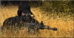 Sniper (Zel Colton) Tags: sniper soldier stealth grass shoot gun slink catwa nivaro ikon odyssey ca euphoria lumipro