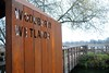 Welcome to Woodberry Wetlands (zawtowers) Tags: capital ring section 12 walk sunday 18th december 2016 dry cloudy highgatetostokenewington amble stroll walking exploring suburbs london new river artificial watercourse fresh water city twisting route woodberry wetlands sign welcome metal cut out diecut