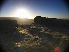 Alderman's Hill towards sun over Alphin, Greenfield. (kyliepics) Tags: olympus e520 evolt520 olympuszuikodigital1122mmf2835 srbpsizend093stopgradfilter darktable saddleworth