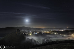 Corfe Castle Mist and Moonlight (www.ollietaylorphotography.com) Tags: europe astrophotography castle corfecastle darksky dorset dreamscape fog jurassiccoast landmark landscape landscapephotography milkyway mist moon moonlight moonrise nightphotography nightsky nightskyphotography nightscape norman purbeck ruin sky stars sunrise sunset tourism tuition workshops
