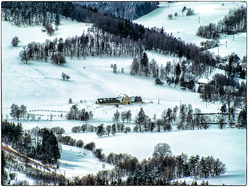 Hochwaldblick über Krompach (Böhmen)