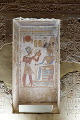 Relief of Seti I Offering to Amun-Ra (Chris Irie) Tags: abydos setii amunra temple egypt relief