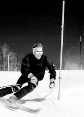 Monochrome Ski School Slalom (wordman760) Tags: minolta monttremblant monochrome blackandwhite canada csia daylight downhill downhillskiing extérieur 3200asa grayrocks gate laurentians laurentides negative négatif noiretblanc outdoors skiing sugarpeak ski sport snow snoweagleskischool saintjovite slalom tmy québec 35mm