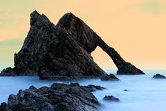 Bow Fiddle Rock (PeskyMesky) Tags: aberdeenshire bowfiddlerock portknockie sea water rock le longexposure flickr scotland