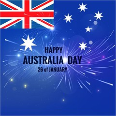 free vector Happy Australia Day 26 January With Flag & Stars Background (cgvector) Tags: 26 australia badge banner blue british calligraphic canberra celebration constitution country day democracy democratic election empire festival flag flat freedom government grunge happy holiday honor independence island january justice liberation nation national new ocean oceania old pacific patriot pattern peace poster religion sign stars state strength symbol typographic vector victory vintage white