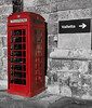Phone call for Valetta (ORIONSM) Tags: phone box telephone valetta red english selective colour monochrome olympus omdem10markii