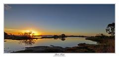 Sunset (Brett Huch Photography) Tags: australia aussie ayr alvabeach queensland qld water reflection reflections seascape seascapes sea sunset outdoor tree trees stillwater sky