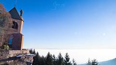 Mont St Odile (Sylvie Vogt) Tags: mont saint odile montagne sérénité spiritualité alsace ottrott mer nuages nuage cloud ciel bleu sky hiver blue architecture