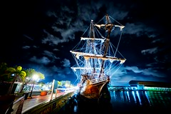 The old ship rests in the San Juan harbor... (Stuck in Customs) Tags: sanjuan pirateship rcmemories peurtorico