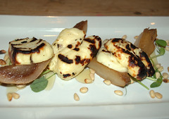 Chargrilled halloumi, jack fruit, toasted pinenuts, blossom honey (Tony Worrall) Tags: add tag ©2016tonyworrall images photos photograff things uk england food foodie grub eat eaten taste tasty cook cooked iatethis foodporn foodpictures picturesoffood dish dishes menu plate plated made ingrediants nice flavour foodophile x yummy make tasted meal edinburgh blackbird chargrilledhalloumi jackfruit toastedpinenuts blossomhoney cheese the bar restuarant